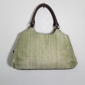 Croft & Barrow Straw Purse Bag With Croc details